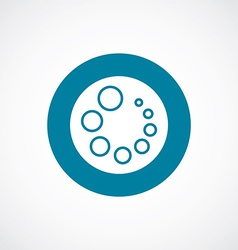 Loading icon bold blue circle border vector