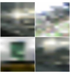 Abstract unfocused natural backgrounds blurred vector