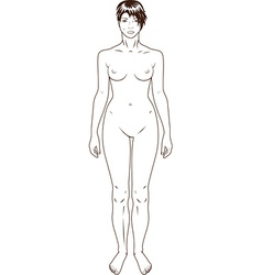 Naked standing woman vector