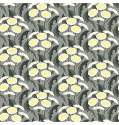 Seamless floral pattern with dandelions vector
