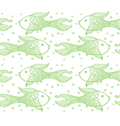Seamless pattern of fish vector