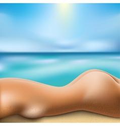 Sunbathing woman vector