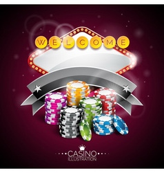 Casino with lighting display vector