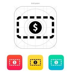Banknote icon vector