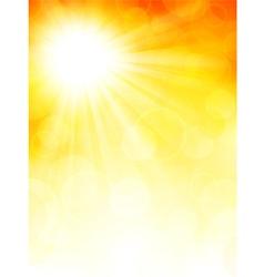 Autumn background with sun vector