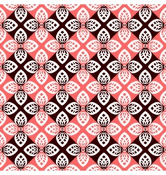 Floral checked pattern vector