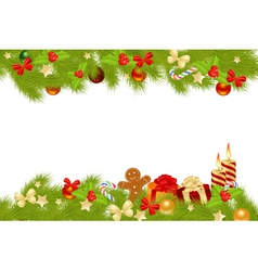 Christmas card background with decorations vector