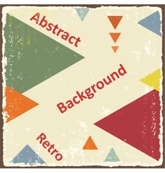 Avant-garde retro triangle background vector