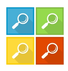 Magnifier glass and zoom icons vector