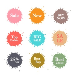 Business colorful splashes labels vector