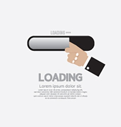 Hand with loading status vector