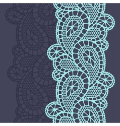 Seamless vintage fashion lace pattern with vector