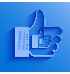 Thumb up icon background vector