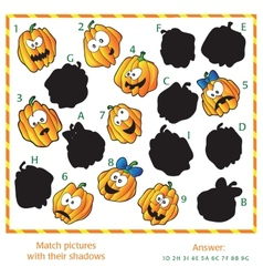 Visual puzzle - match the pictures to their vector
