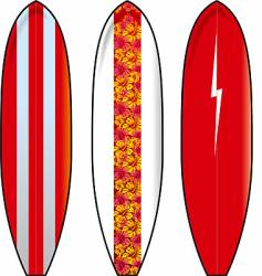 Long boards vector