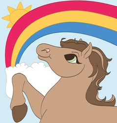 Rainbow pony vector
