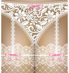 White lace lingerie vector