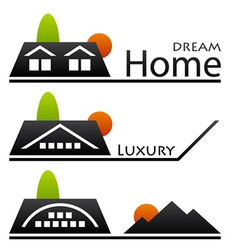 House roof pictograms vector