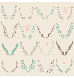 Floral graphic design elements collection vector