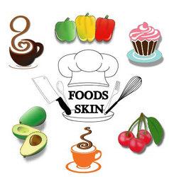 Foods-skin vector