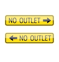 No outlet signs vector