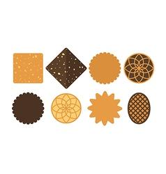 Cookie set vector