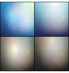 Set of elegant abstract blue and gray backgrounds vector