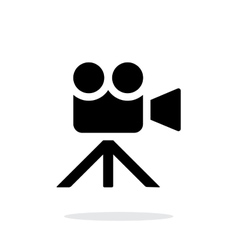 Movie camera simple icon on white background vector