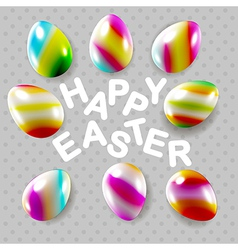 Happy easter square composition vector