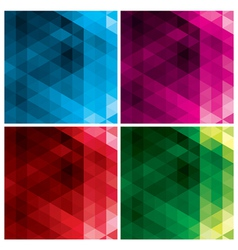 Abstract geometric backgrounds with triangles vector