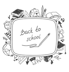 Back to school school background of school vector