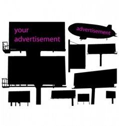 Outdoor advertisement vector