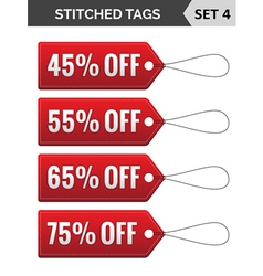 Stitched tags set 4 vector