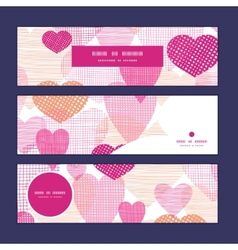 Textured fabric hearts heart silhouette pattern vector