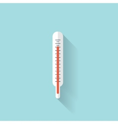 Medical thermometer flat icon health care vector