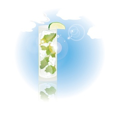 Glass of mojito vector