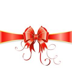 Bow and ribbon vector