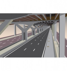 Under the toll way vector