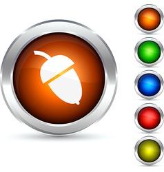 Acorn button vector