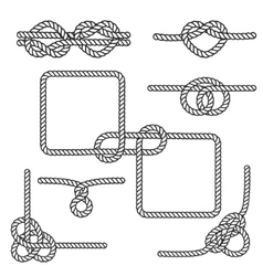 Nautical rope knots vector