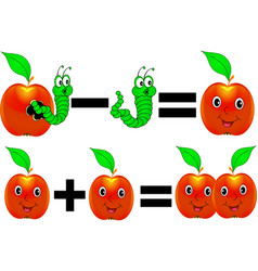 Cartoon math vector