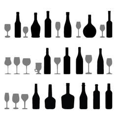 Glasses and bottles 2 vector