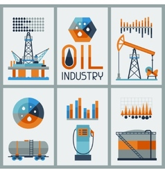 Industrial infographic design with oil and petrol vector