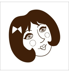 Stylish woman face isolate on white vector