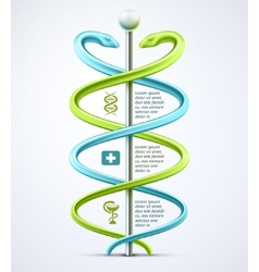Caduceus medical infographic vector