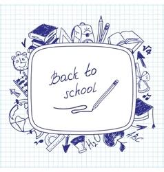 Welcome back to school school background of school vector