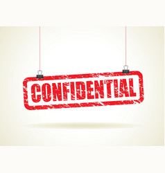 Confidential red vector