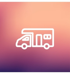 Camper van thin line icon vector