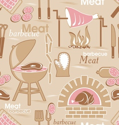 Meat seamles background vector