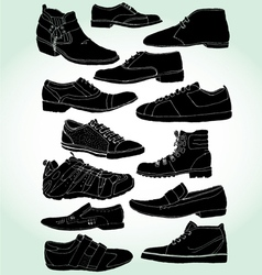 Men shoes negative vector